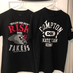 Two DGK Size Medium T-Shirts!